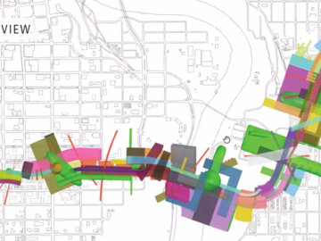 SAPL architecture students led by Dustin Couzens from MODA architecture firm worked with the High Level Line Society to imagine design possibilities for a proposed 4.3 km active transportation corridor in Edmonton.